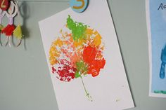 Colorful leaf printing from Little Page Turners.  Gotta try this!