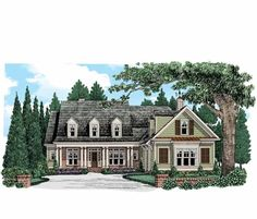 Eplans Country House Plan - Country Home with Room for Family - 2834 Square Feet and 4 Bedrooms from Eplans - House Plan Code HWEPL74179