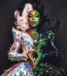 Todrick Hall as Glenda of the North and The wicked witch of the east Drag Queen Costumes, Drag Queen Outfits, Drag Queen Makeup, Drag Makeup, Trajes Drag Queen, Elefante Tribal, Priscilla Queen, Todrick Hall, Rupaul Drag Queen