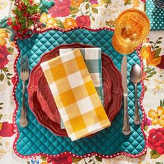 Pioneer Woman Posies Reversible Placemats Pack Of 4