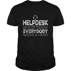 Helpdesk Hero T Shirts, Hoodies. Get it now ==► https://www.sunfrog.com/Jobs/Helpdesk-Hero-Black-Guys.html?57074 $19