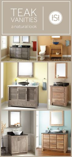 Teak vanities blend natural style with premium craftsmanship. Update your guest or master bath with a Signature Hardware vanity that has timeless appeal.