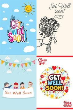 A sample of four designs from our Get Well collection