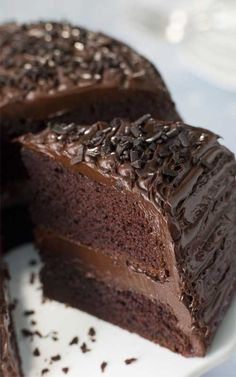 Recipe for Old Fashioned Chocolate Buttermilk Cake - An old-fashioned chocolate…