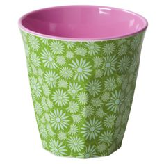 Melamine Cup Two Tone with Green Casablanca Print - Rice A/S