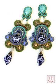 Azul earrings, carefree yet stylish in a boho chic kind of way.... #DoriCsengeri #bohochic #designermaker #blue