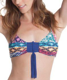 Look what I found on #zulily! William Rast Royal Blue Geometric Bralette Bikini Top - Women by William Rast #zulilyfinds
