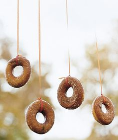 donuts on a string game party halloween