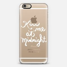 Kiss Me At Midnight - Wht Transparent - Classic Snap Case