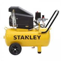 Stanley 36L Direct Drive Air Compressor, 2hp, 2 Year Warranty. The Stanley 2HP 36L Direct Drive Air Compressor is suitable for a range of jobs around the home including automotive applications and DIY projects and tools. It delivers a powerful 105 L/min free air delivery at 145PSI this Stanley air compressor will be a great asset to any handyman. Chainsaw Sharpener, Generators For Sale, Air Compressor, Power Tools, Outdoor Power Equipment, Delivery, Diy Projects, Range, Free