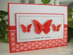 Great card for many occasions! Will try this with pastel and other colors. Would be a great Easter card!
