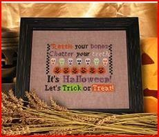 Rattle Your Bones is the title of this delightful cross stitch pattern from Ship's Manor.