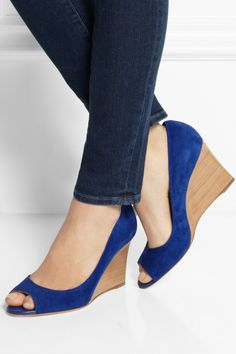 Tod's | Suede wedge pumps | NET-A-PORTER.COM