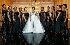 SLAY LADIES 😉. Bride's dress by @eseazenabor @eseazenaborbride  Bridesmaids dresses by @bridesbynona  Makeup by @colordujour  Photography by @rhphotoarts  Thank you so much @munaluchibride for featuring our Bride @jessicachinyelu #loveit❤️ #dureevents #weddinginspiration #munaluchibride #bridesmaids #bridesmaiddresses #formaldresses #dallas #dallaswedding