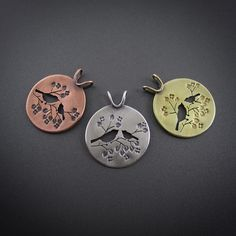 Springtime Mother and Child Chickadee Sterling Silver Pendant – Beth Millner Jewelry