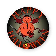 Happy #Halloween Evil Round Coaster