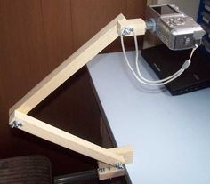 """How to make your own """"tripod"""" so that you can take overhead pictures and videos."""