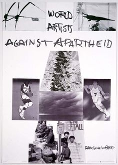 Poster for World Artists Against Apartheid