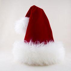 a22148b25d109 Santa Red Velvet Reversible Hat Velvet Hat
