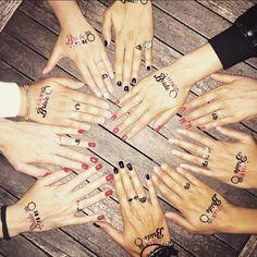 Temporary Tattoo Team bride