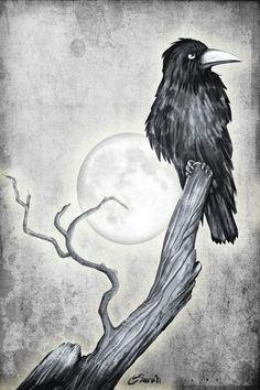 """@Behance projeme göz atın: """"the crow"""" https://www.behance.net/gallery/57462461/the-crow"""