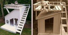 Des niches pour chien, originales et insolites ! Pallet Dog Beds, Niches, Sweet Home, Stairs, Palette, Architecture, Outdoor Decor, Batman, Magazine