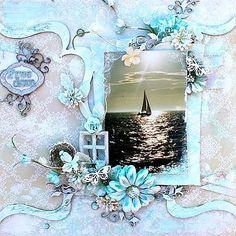 sailing scrapbook layout