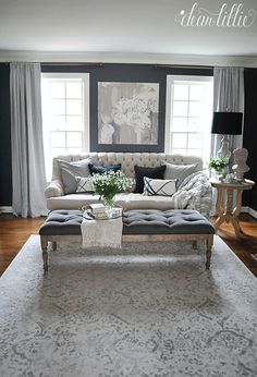 Today we are excited to share the progress we have made so far in our new formal living room! This was another room where the trim was al...