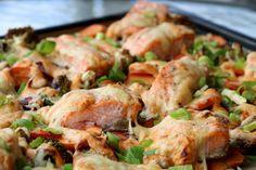 Laksemiddag i ovnen med red curry - LINDASTUHAUG Red Curry Paste, Quinoa, Philadelphia, Shrimp, Turkey, Meat, Chicken, Dinner, Food