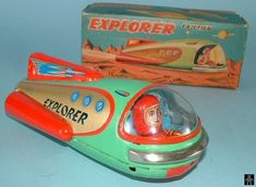 A while ago Stan posted a list of his Masudaya rocket collection, those odd shaped space vehicles with rotating antennas and circling astronauts.   Masudaya ...