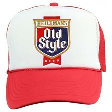 OLD STYLE BEER Trucker Cap vintage 70s 80s retro Snap Back Hat Red FREE SHIP