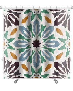 Delta Oriental Traditional Floral Ornament, Moroccan Premium Shower Curtain