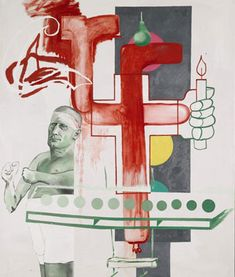 "Untitled (Self Portrait), 1988, oil on canvas, 94.5"" x 79"", Martin Kippenberger"
