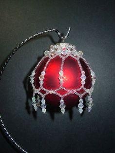 "101 ""Diamonds & Ice"" Beaded Christmas Ornament Cover"