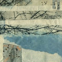 88editions Tankersley  Fragment: Winter Walk II, 2010  Artist's made paper, polymer gravure solar plate, drypoint etching on chine collè, and collage
