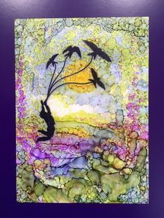 Barbara Gray's Blog. One Day at a Time.: Yupo Paper Landscape....