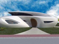 Futuristic House Biomorphism by Ephraim Henry Pavie Architects and Design Architecture Company, Organic Architecture, Islamic Architecture, Architecture Office, Futuristic Architecture, Amazing Architecture, Architecture Design, Office Buildings, Chinese Architecture