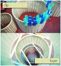 craft chain reaction: DIY popsicle stick chandelier | Bored & Crafty