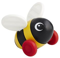 BRIO BRIO Mini Bumble Bee Baby Toy  Founded in Sweden in 1884, Brio makes the highest quality wooden toys that have delighted children and created happy memories for generations. Both educational and fun, Brio's uncompromising focus on design, quality and craftsmanship create toys of lasting value that stimulate creativity and imagination. Engaging play and learning are integral themes in all Brio toys, satisfying a child's educational needs and growing with them through their variou..