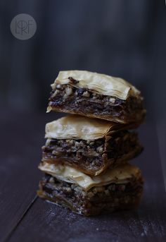 another pinner said: Chocolate baklava - I just know a little molasses would make if taste even more chocolaty.