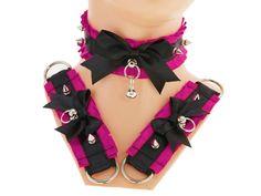 Visit my etsy shop. I look forward to you.♥ https://www.etsy.com/shop/FashionForWomen… http://www.gothic-burlesque-shop.com/en/#OgO #Collar #kittenplay #wedding #gloves #bag #gothic #fingerlessgloves #armwarmers #gothic #lolita #kittencollar #kittenplaycollar #shop