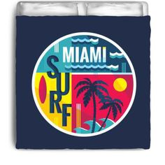 Surf Miami Eco Friendly & Made in USA Surfer Bedding Beach Comforter