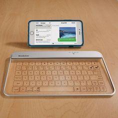 √     Wireless Glass Keyboard - $150