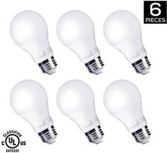 HyperSelect 9W LED A19 - E26 Bulb Non-Dimmable [60W Equivalent] 3000K (Soft White Glow) 820 Lumens Medium Screw Base 340 Omnidirectional UL-Listed (Pack of 6)