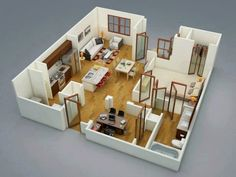 1 Bedroom House Plans Free New 1 Bedroom Apartment House Plans Futura Home Decor. - 1 Bedroom House Plans Free New 1 Bedroom Apartment House Plans Futura Home Decorating - Zeitgenössisches Apartment, 4 Bedroom Apartments, Apartment Plans, One Bedroom Apartment, Studio Apartments, Apartment Design, Apartment Ideas, Layouts Casa, House Layouts
