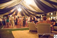 Litchfield Plantation | Blue Fabric Draping | Crystal Chandeliers | Lounge Furniture | Designed by Engaging Events