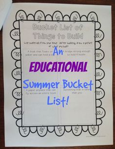 Summer Bucket List - a fun way to prevent the summer slide.  Students complete educational bucket list activities - reading in different places, writing a variety of stories, observing different things in nature.  A fun twist on the typical summer packet!  $