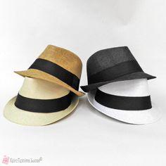 Unisex ψάθινο καπέλο σε 4 χρώματα