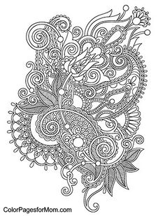 Paisley Coloring Page 26