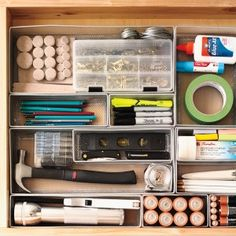 """Junk"" Drawer via Martha Stewart"